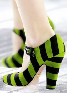 Prada Green Black Stripe